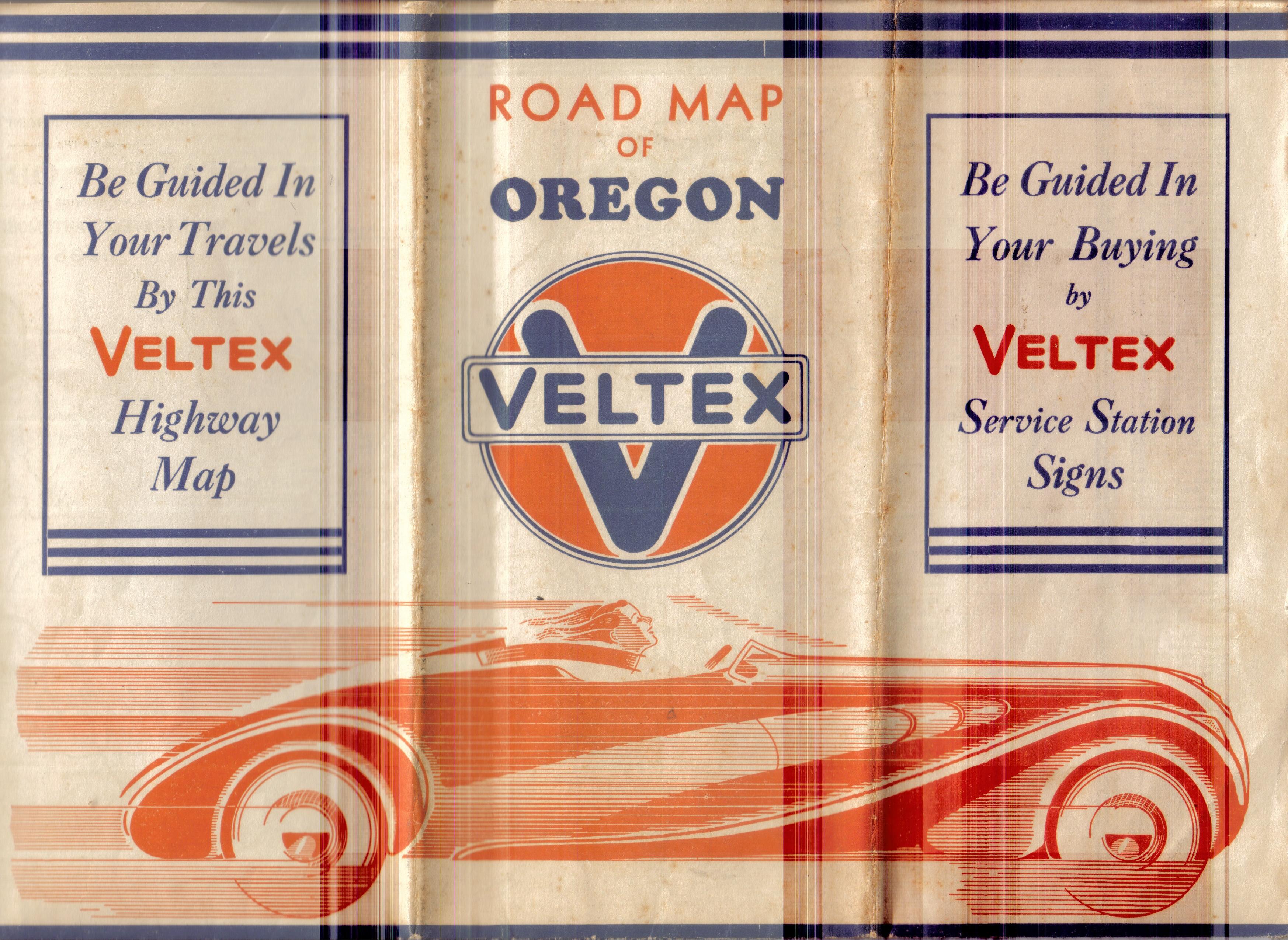 1935 Veltex Oregon map