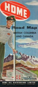 Home Oil road map of British Columbia