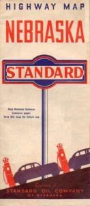 1940s map from Standard Oil Co of Nebraska