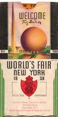 1939 packet from Royal Liverpool Groups, containing road map