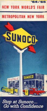 1964-5 Issue, 1960s Sunoco maps were issued biannually.