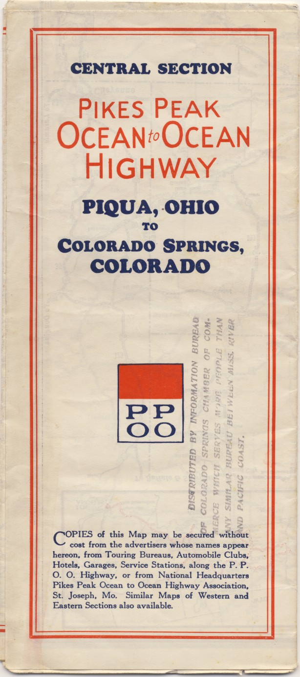 PPOO map cover, 1930s