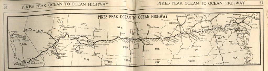 Pikes Peak Ocean to Ocean map