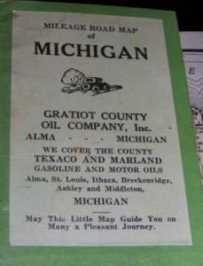Gratiot Co. Oil Company Map of Michigan